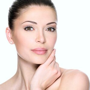 A woman's face after BOTOX cosmetic treatment